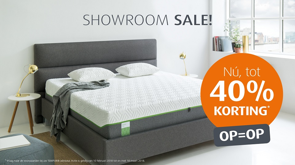 Tempur showroom sale