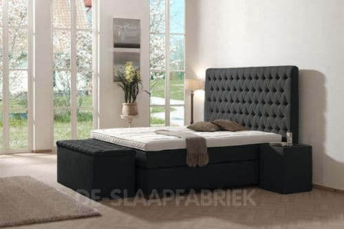 boxspring Barone Superior antraciet De-Slaapfabriek