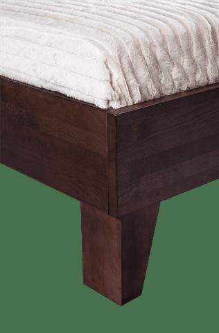 Houten bed wenge detail poot De-Slaapfabriek