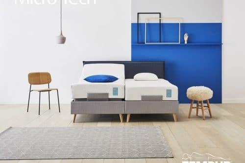 Microtech boxspring elektrisch stitch blue De-Slaapfabriek
