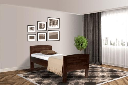 Senioren bed comfort compleet donkerbruin De-Slaapfabriek