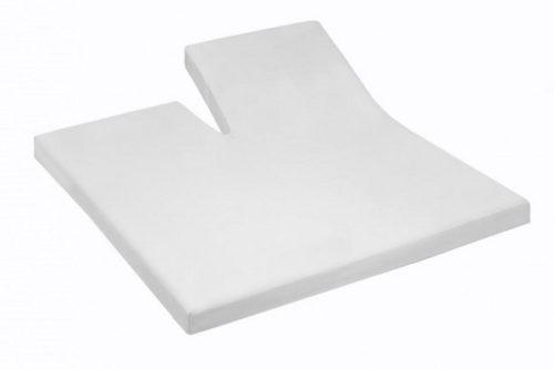 jersey split hoeslaken topper - wit De-Slaapfabriek