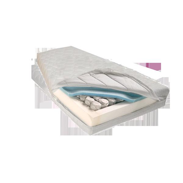 Stevig Frans matras pocket 500, koudschuim, 21 cm hoog